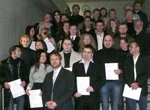 Die Abiturienten am RVK der H4v und H4a mit ihren Lehrern