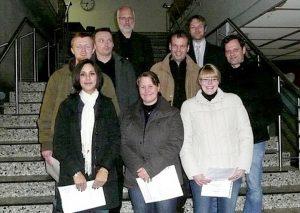 Abiturienten RVK der Klasse H4-online mit ihren Lehrern, 2009