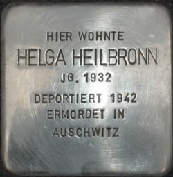 Stolperstein Helga Heilbronn